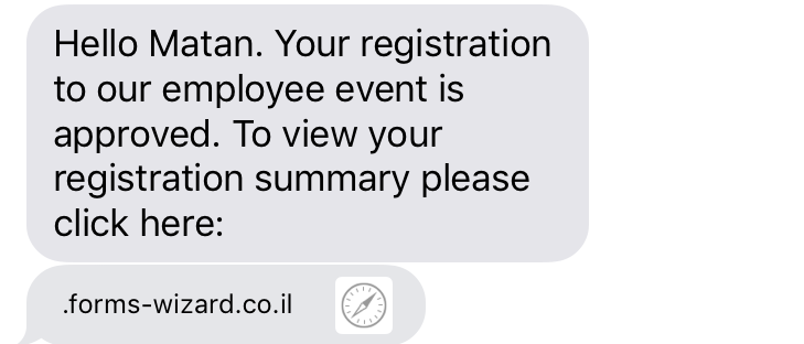 Registration Confirmation Forms-Wizard